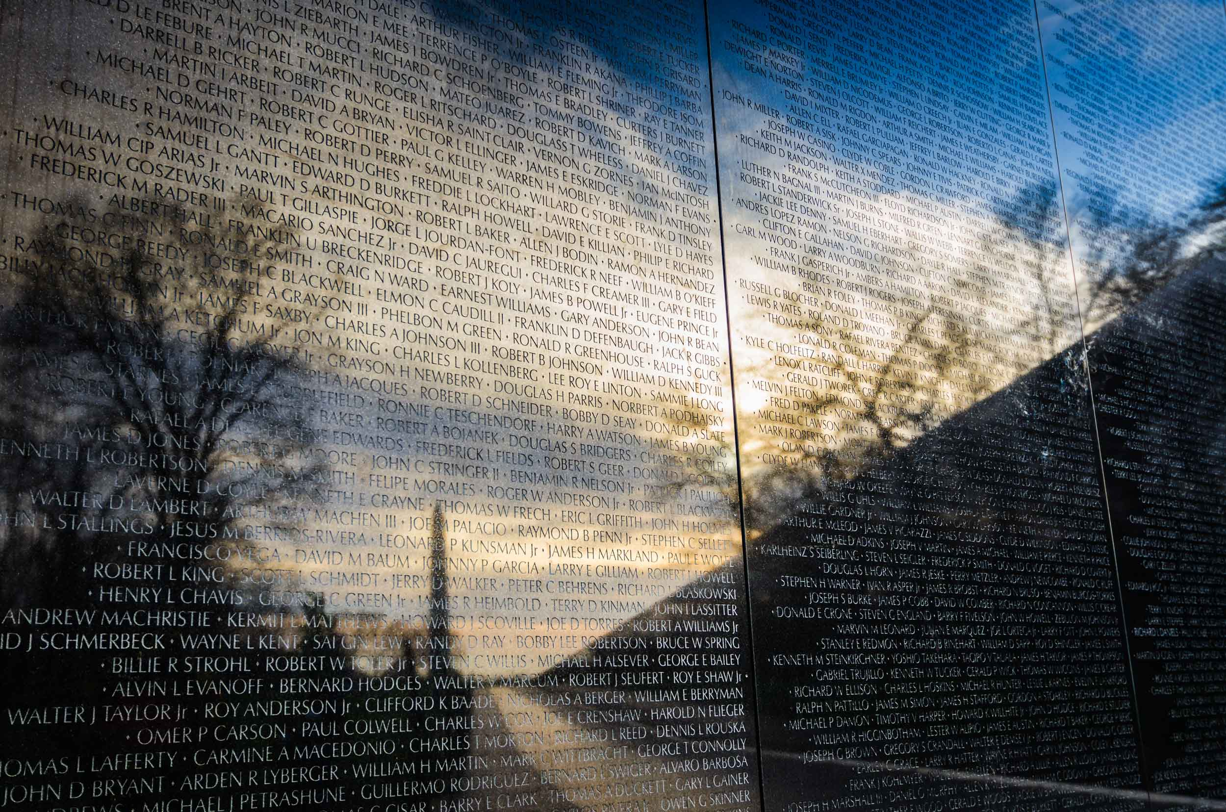 Vietnam Wall Sunrise