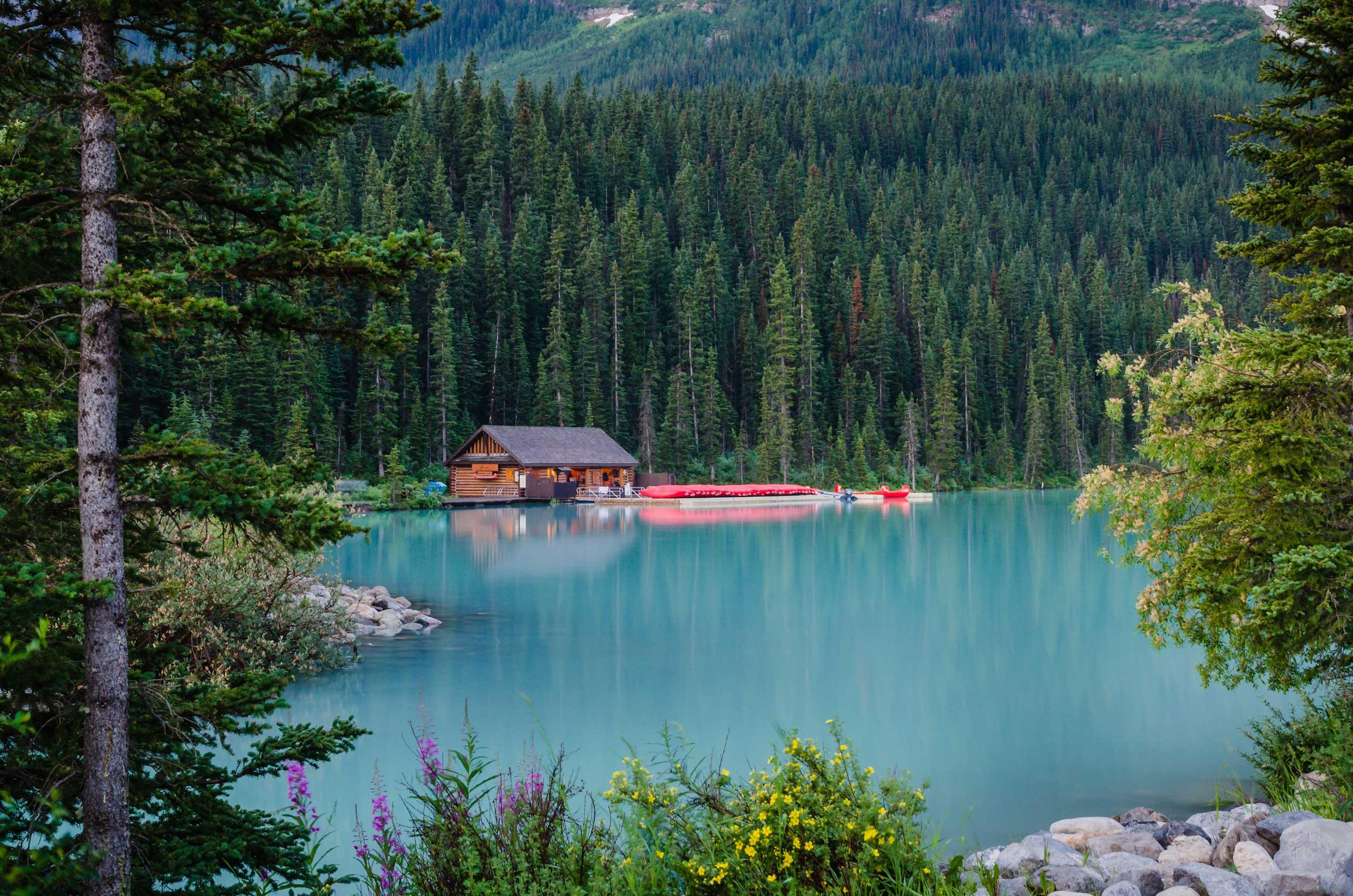 Lake Louise Boat House Morning