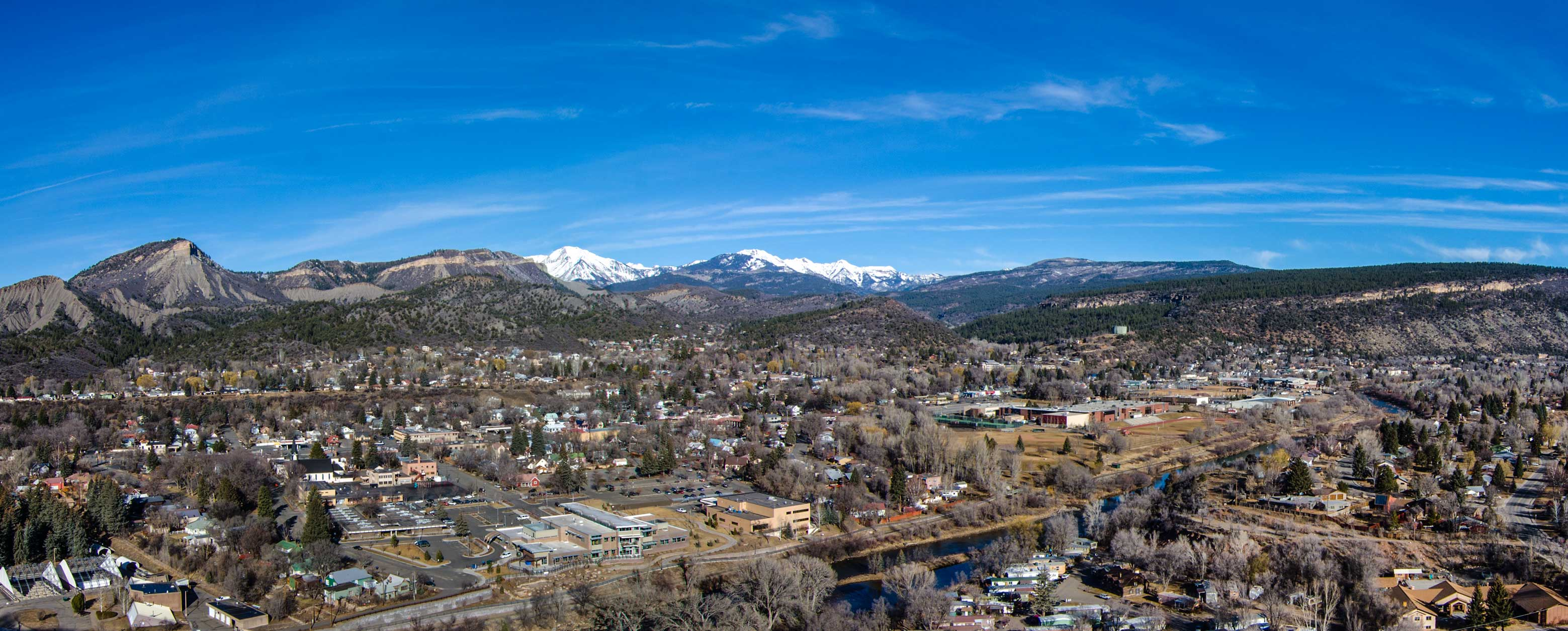 panoramic photo of durango colorado